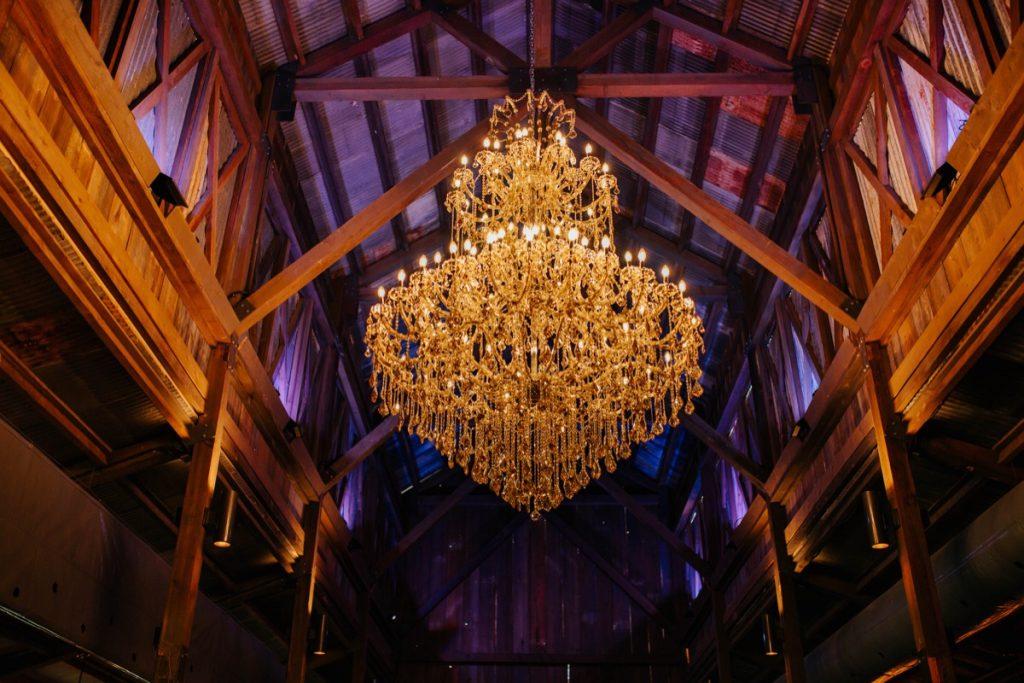 The chandelier of the Eagle Dance Ranchbig barn. Amazing!