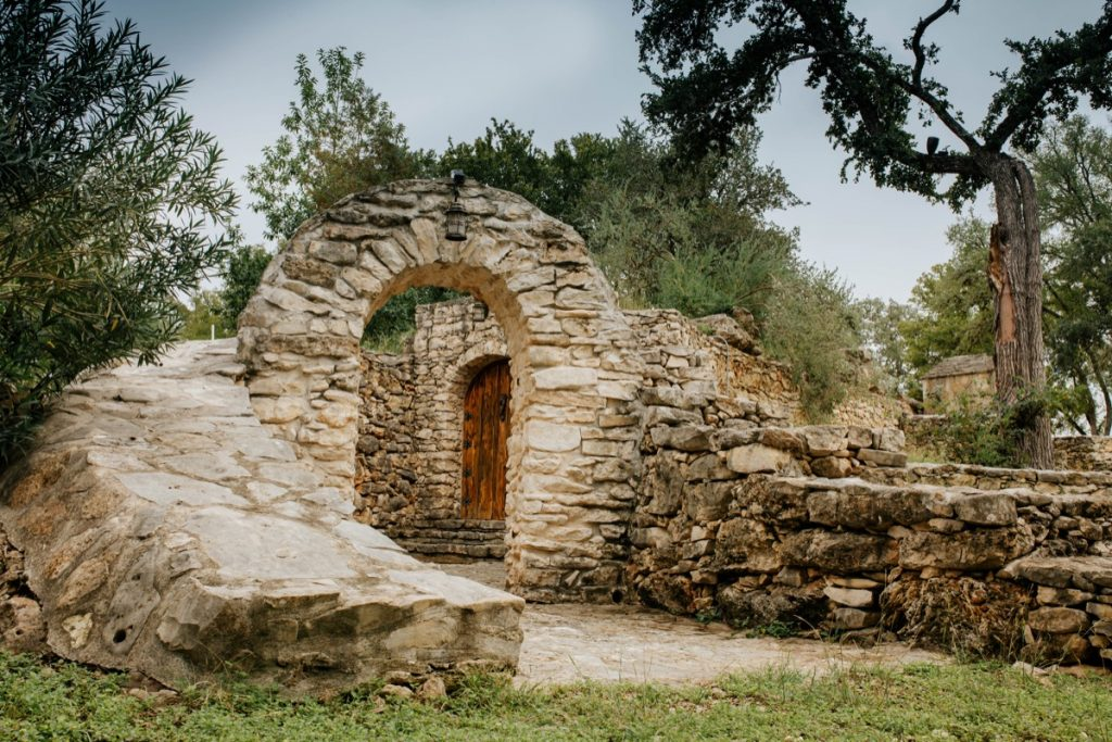 Stone is the theme to this building and it's old archway... a small feature at Eagle Dance Ranch.