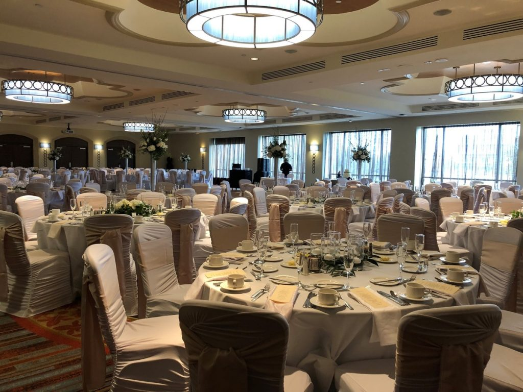 Hilton Palacio del Rio banquet space for large crowds.