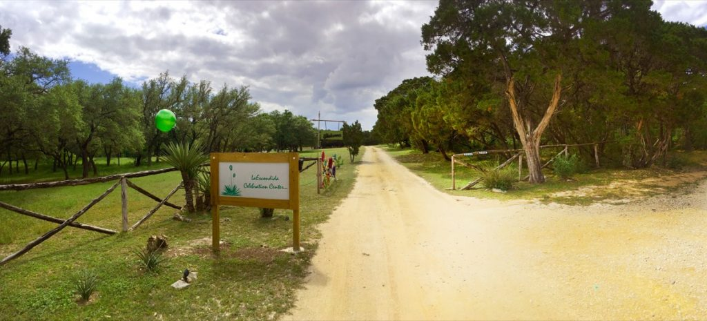 Gate to the La Escondida Celebration Center!