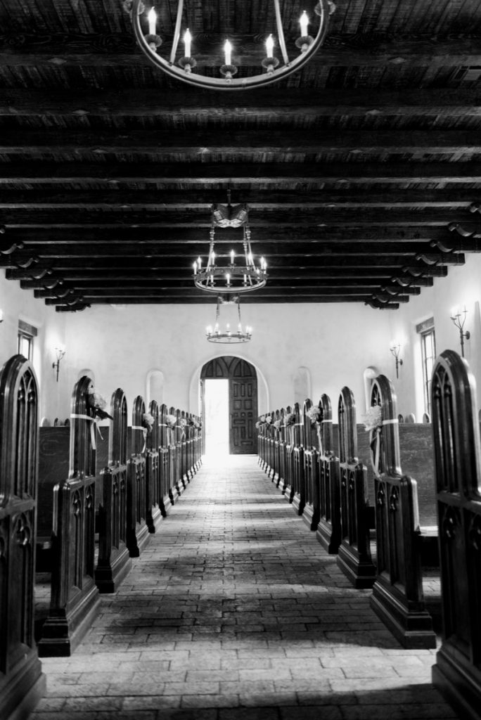 The long aisle at Lost Mission
