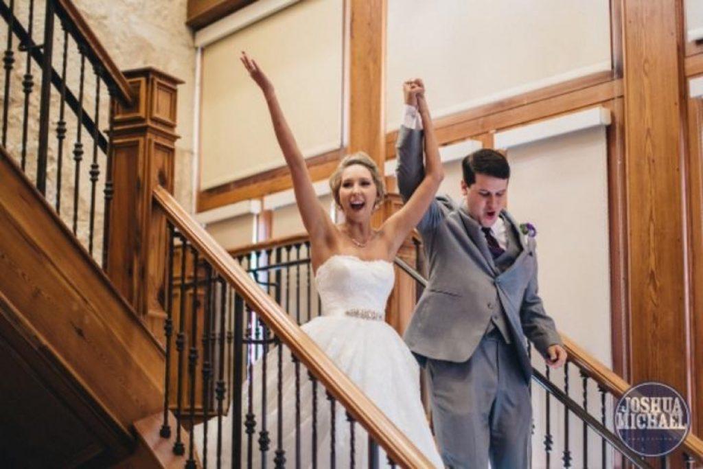 Yay! They are married! at the Hilton Palacio del Rio!