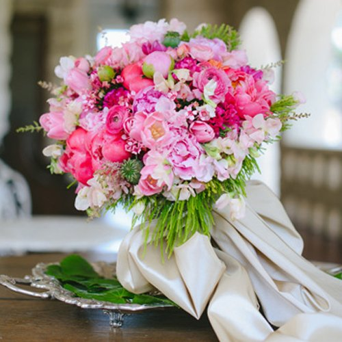 A wedding bouquet from Flair Floral.