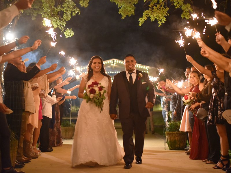 Sparklers rule the night at La Escondida Celebration Center