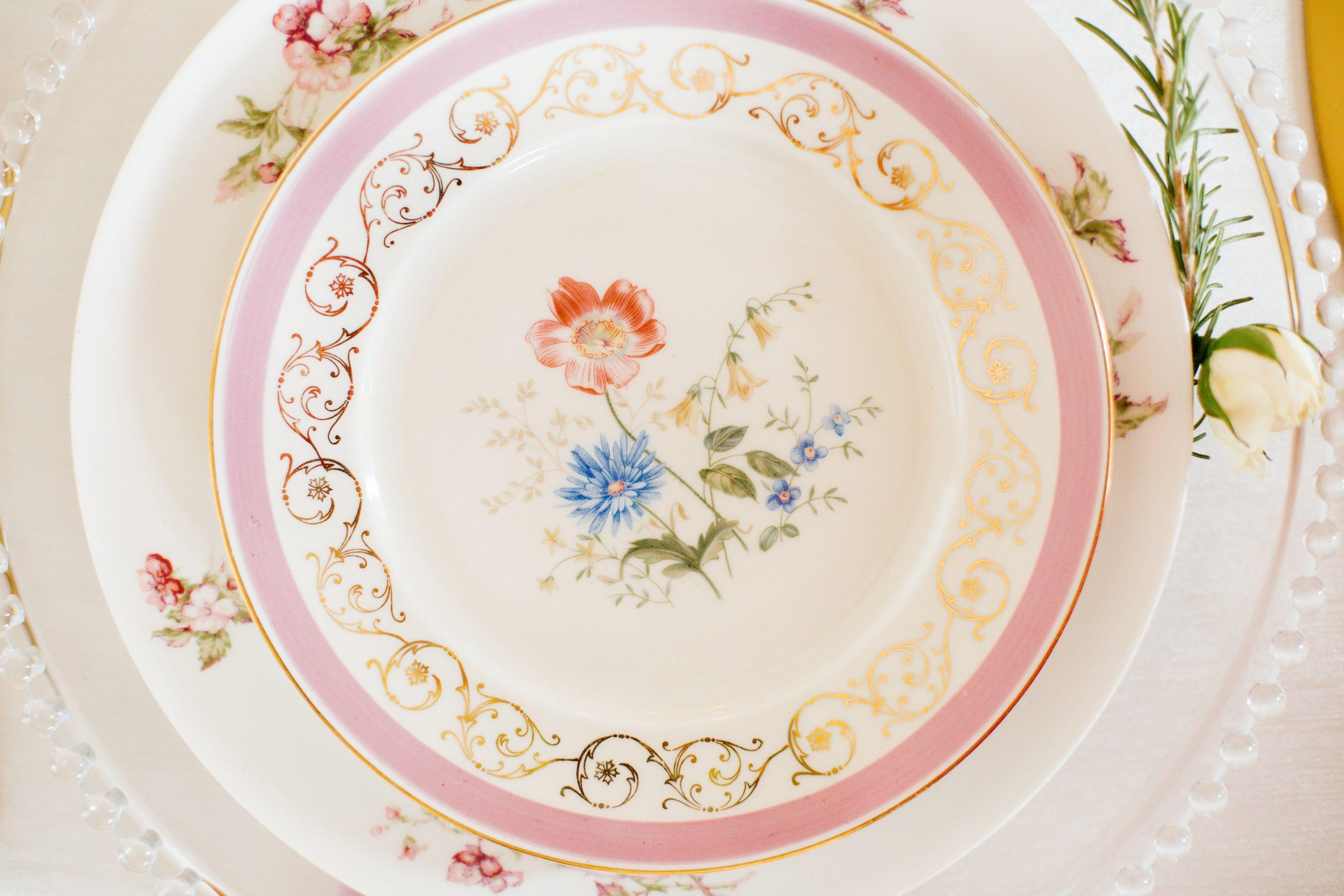 Cru Vintage Rentals - plates
