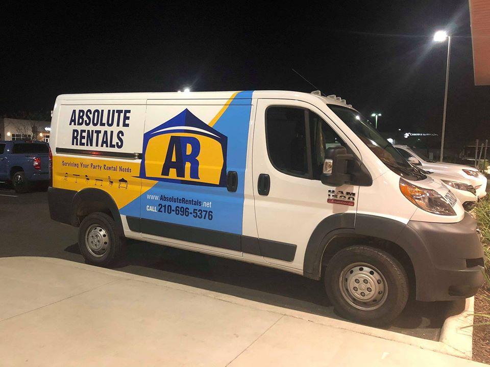 the Absolute Rentals van