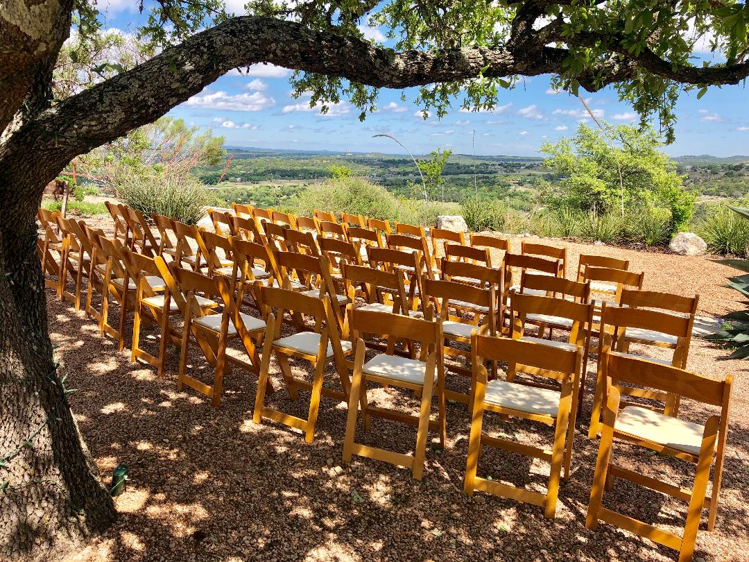 Chairs are by Absolute Rentals