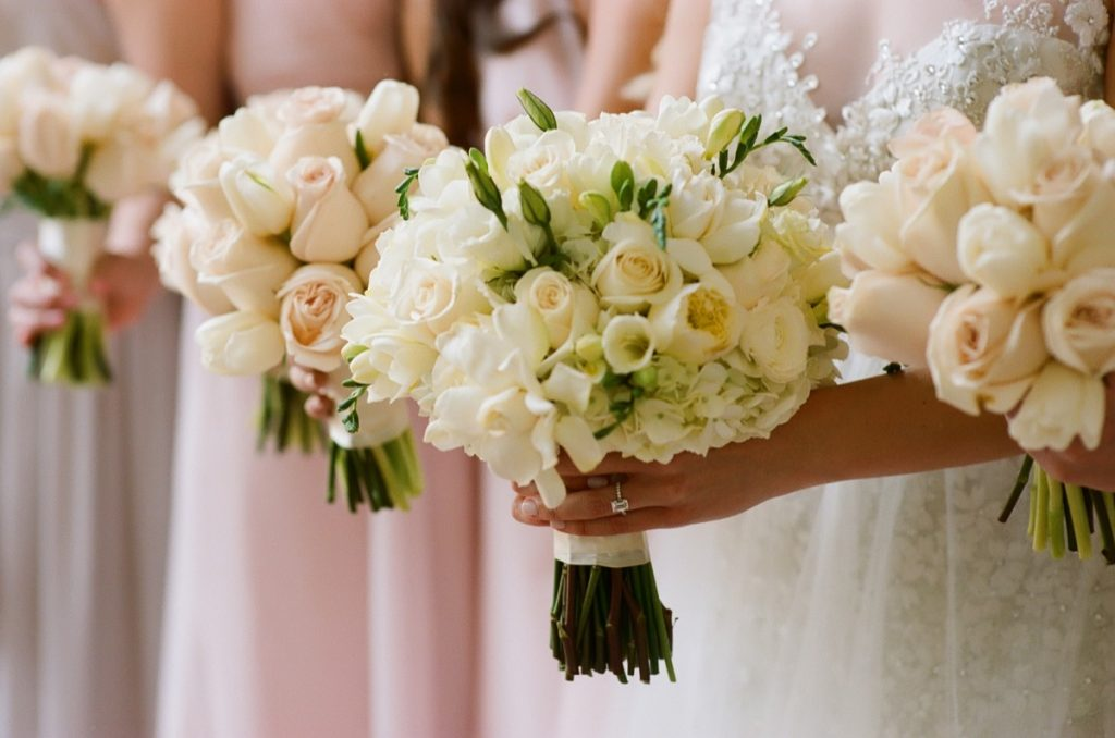Alamo Plants & Petals shows a trio of bridal bouquets