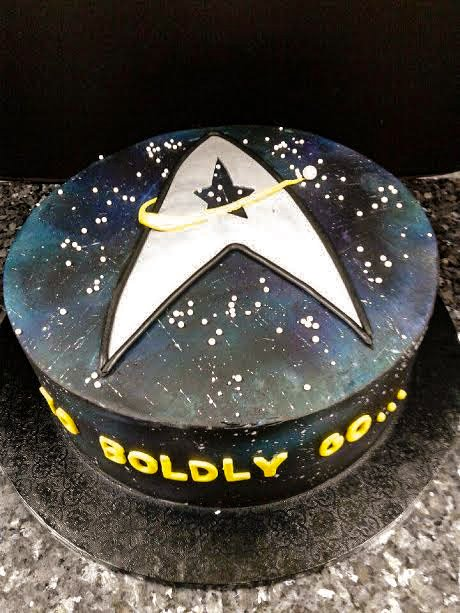 The Cake Shop The Star Trek Next Generation themed cake.