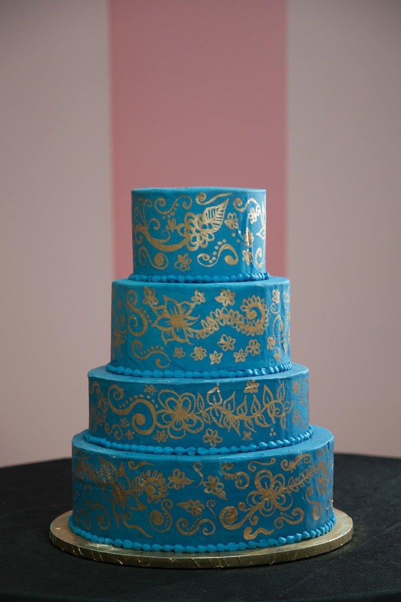 The Cake Shop blue-colored cake