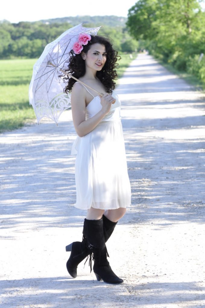 A nice stroll with a parasol Indulgences Hair & Body Salon for everyone!