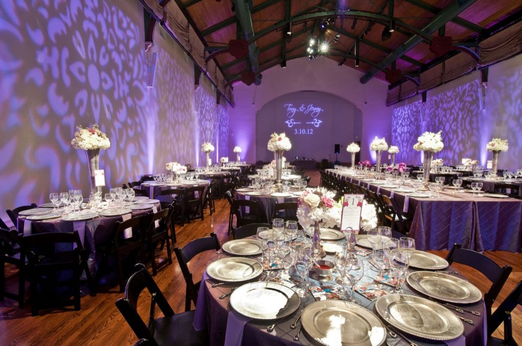 Anothe angle of the purple lighting furnished by Event Ignition.