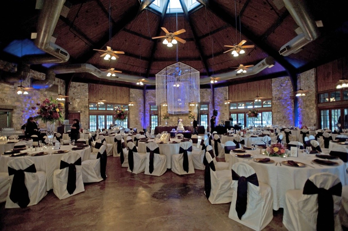 Inside the banquet hall at Canyon Springs Golf Course.