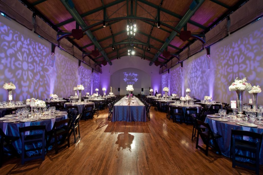 a floor shot of the lighting present in the room by Event Ignition.