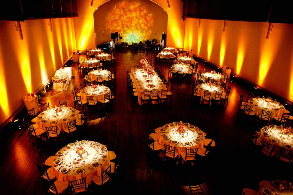 The McNay museum erupts in fiery lighting from Event Ignition!