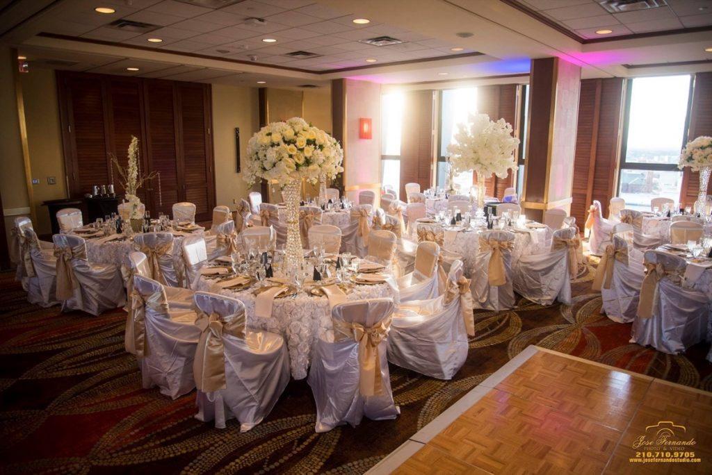 The banquet room at the Hilton Palacio del Rio