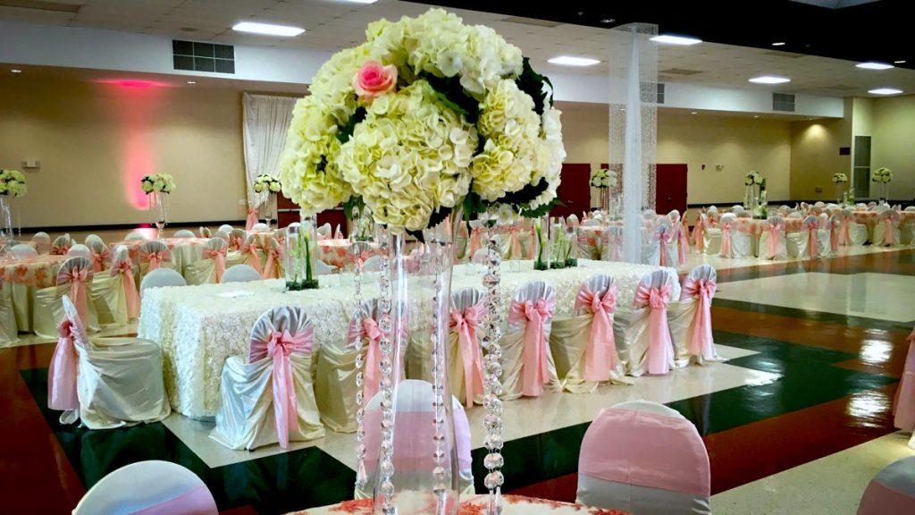 Inside the banquet space at Las Fuentes by Emporium.
