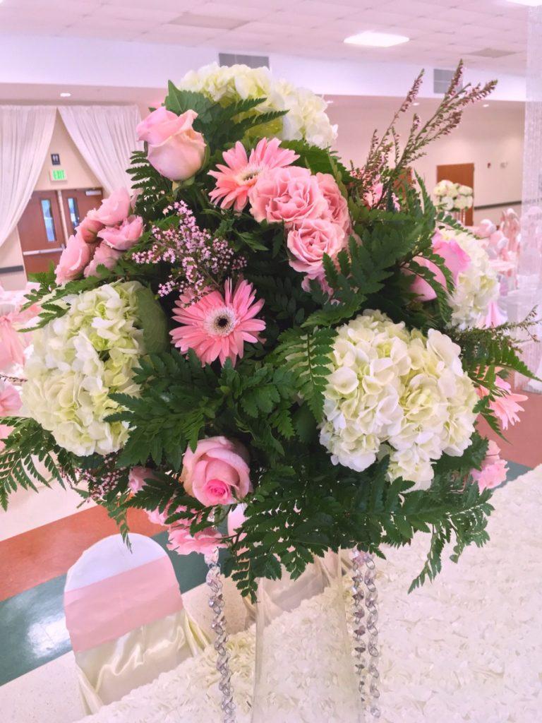 A fancy floral arrangement in Las Fuentes by Emporium.