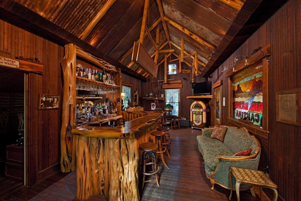 Inside the original Eagle Dance Ranch homestead is a bar!