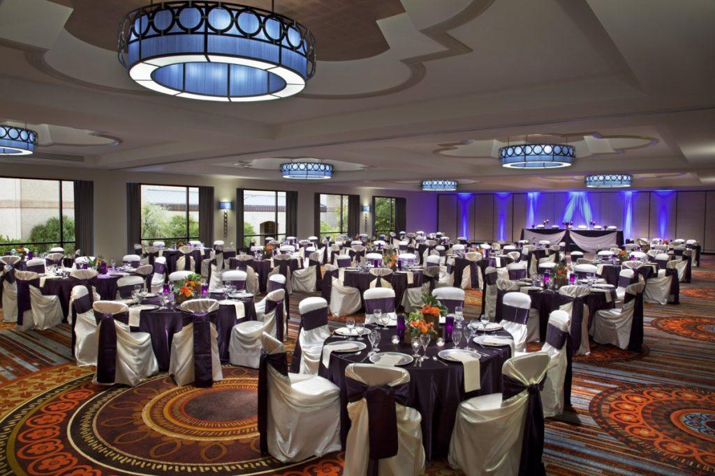 Hilton Palacio del Rio banquet space.