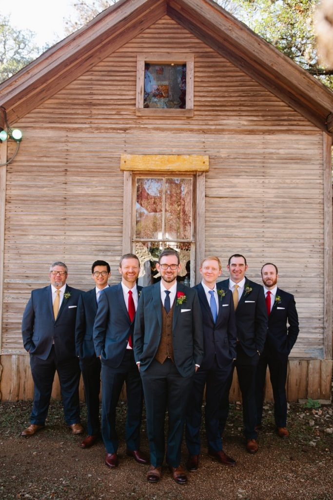 This is either the seven dwarves or a groom with his groomsmen. Eagle Dance Ranch.