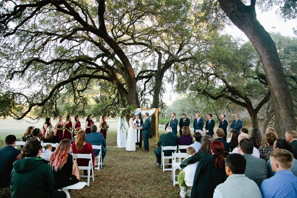 An Eagle Dance Ranch outdoor ceremony.