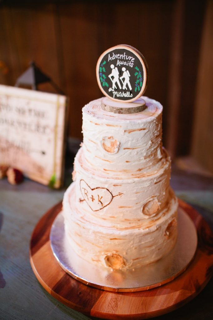 A humorous bridal cake for Eagle Dance Ranch wedding patrons.