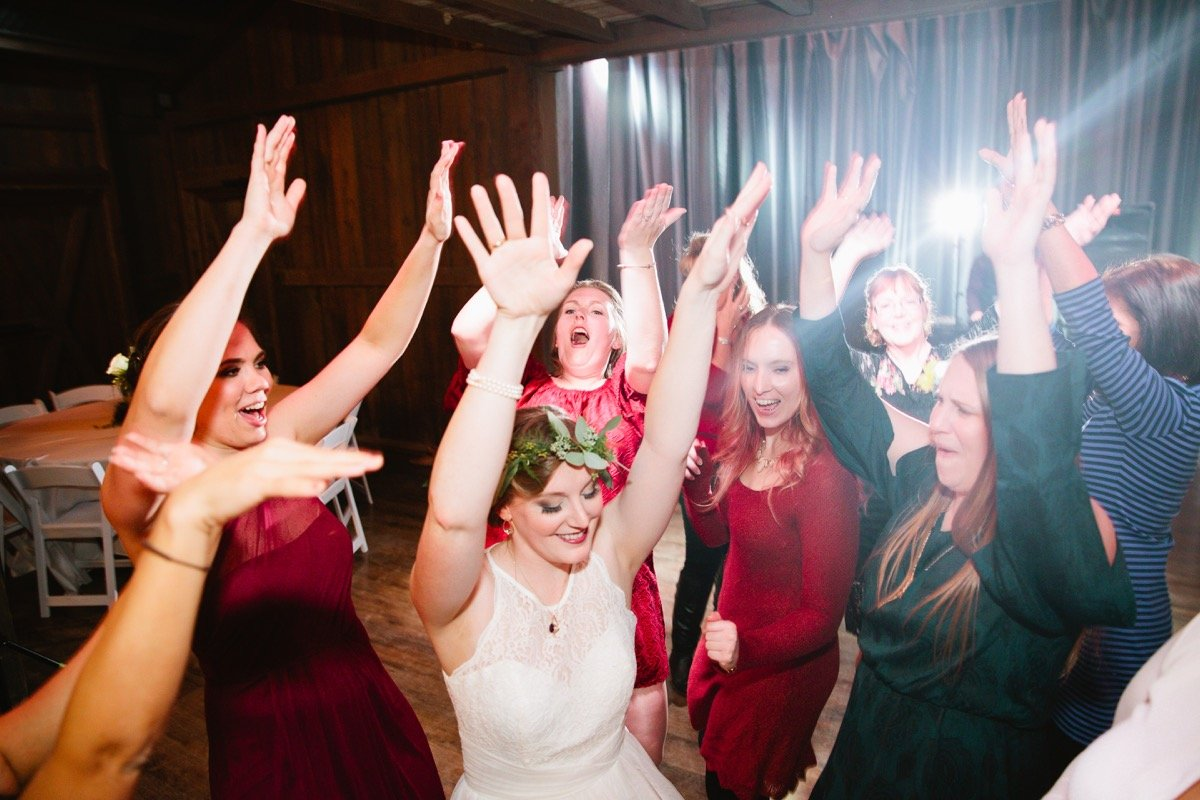 Yee-Hah! The bride and bridesmaids whoop it up today!