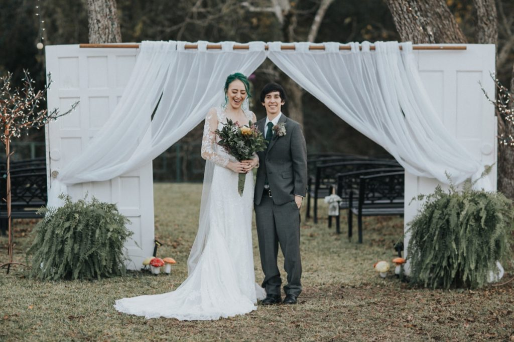 A wedded coule at La Escondida Celebration Center.