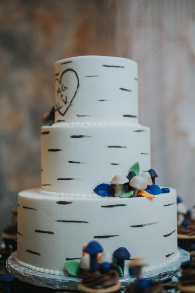 Cake! A wedding cake at La Escondida Celebration Center