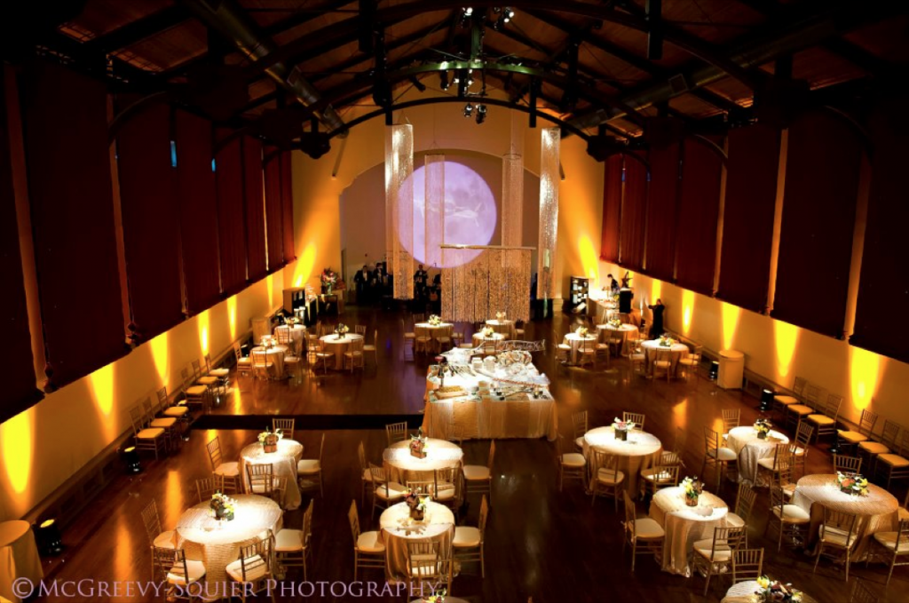 A magesic glow surrounds the tables at the McNay, thanks to Event Ignition!