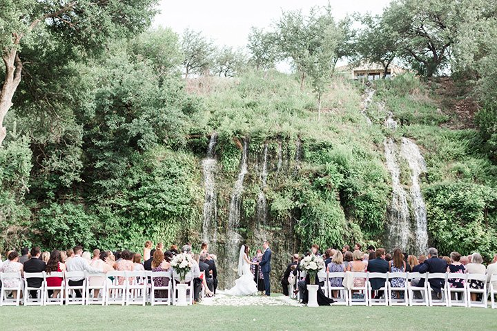 The Canyon Springs Golf Club Waterfall ceremony