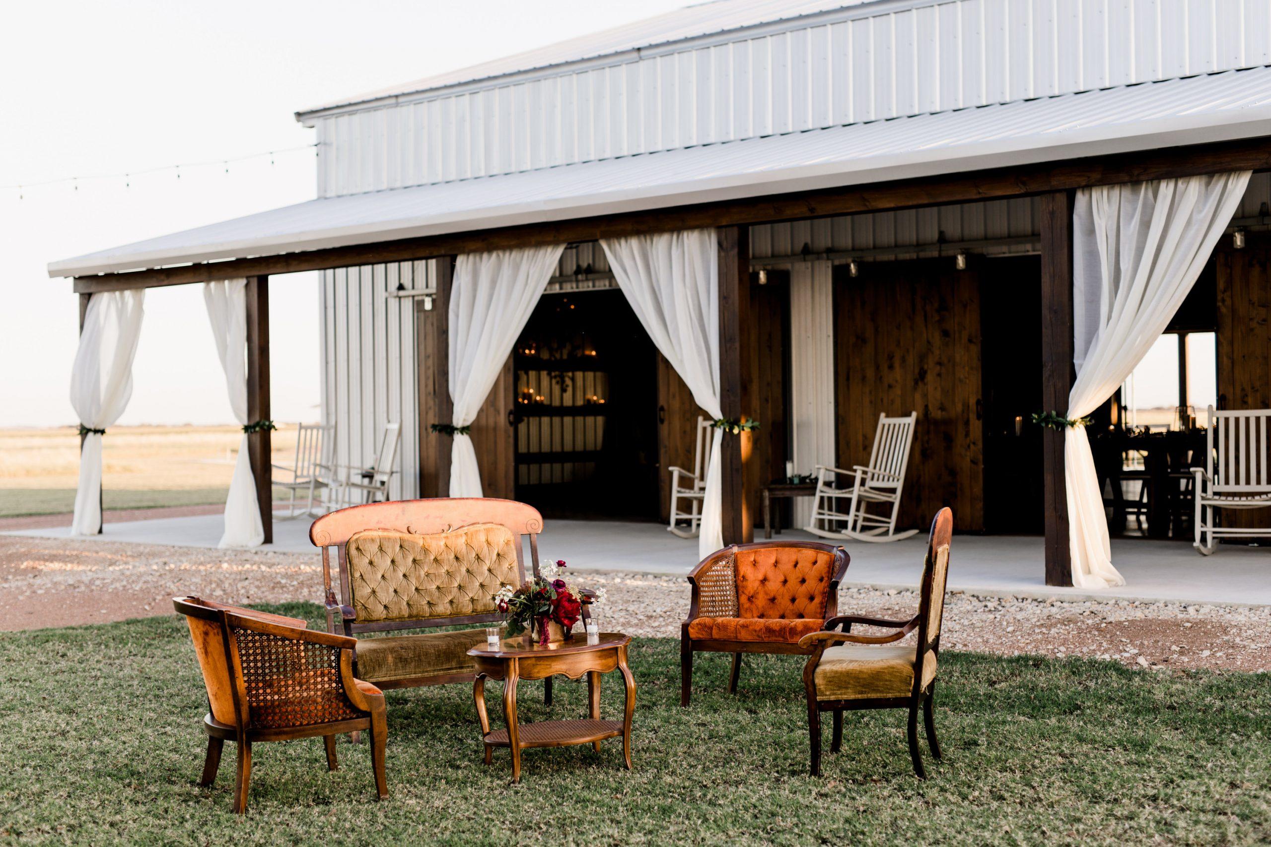Allen Farm Haus sitting outside