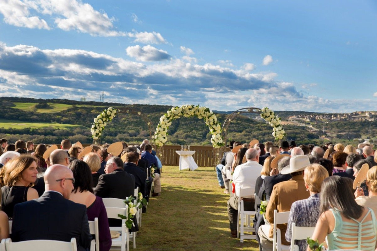 Another view of the outdoor ceremony at La Cantera Resort and Spa