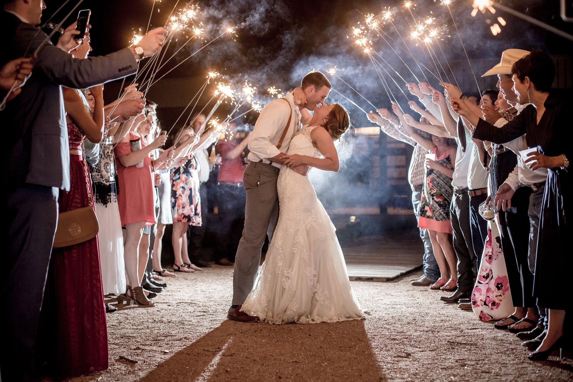 Allen Farm Haus-Couple kissing under sparnkler-fireworks
