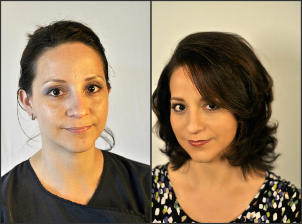 A before and after. Thanks Indulgences Hair & Body Salon!