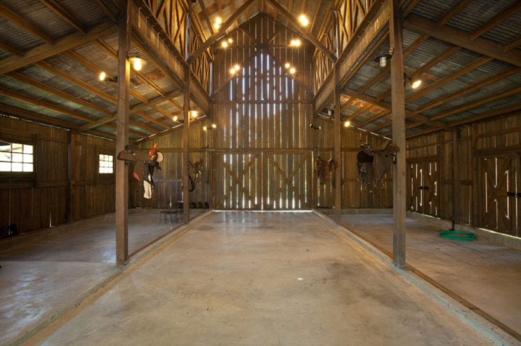 Inside the Eagle Dance Ranch big Barn without anything in it.