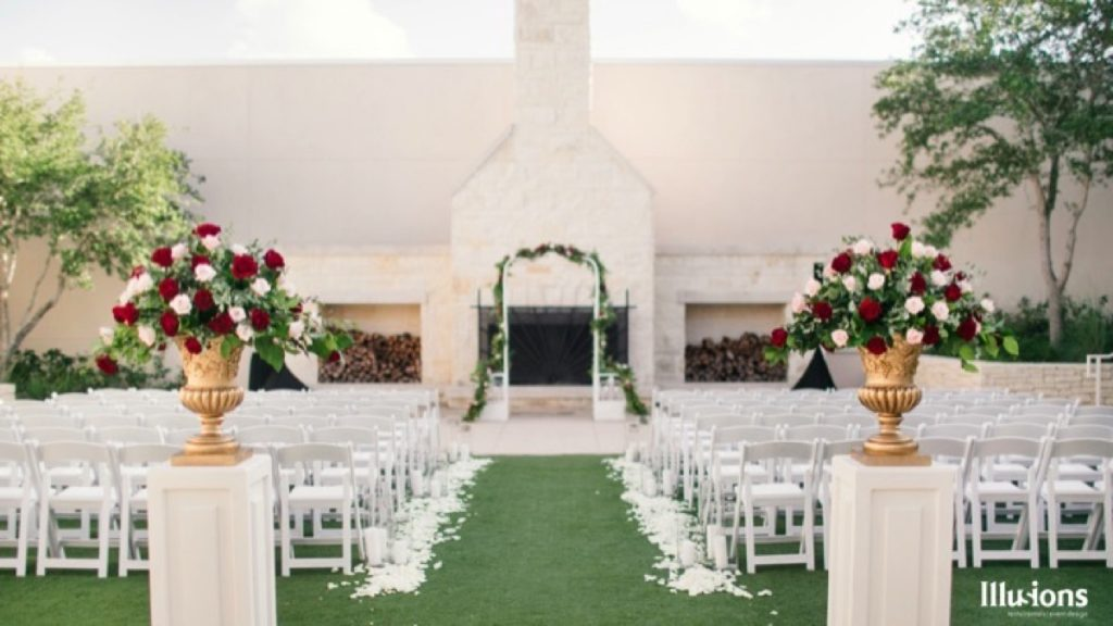 Illusions Tents, Rentals, & Design presents this wedding aisle: simple and elegant!