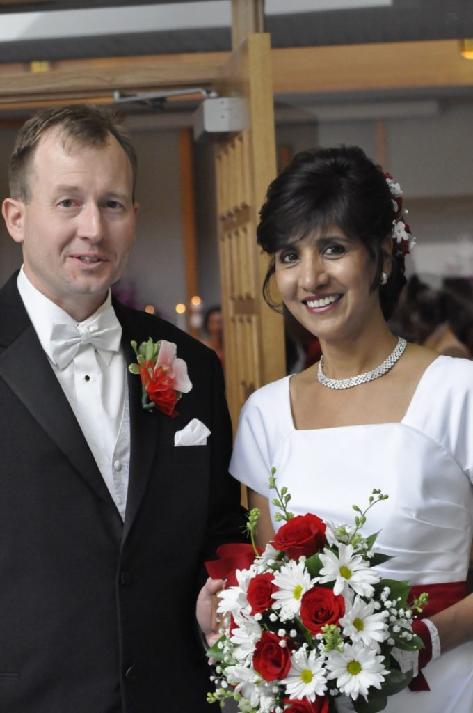 The Bride looks wonderful Indulgences Hair & Body Salon. the groom looks OK. ;)