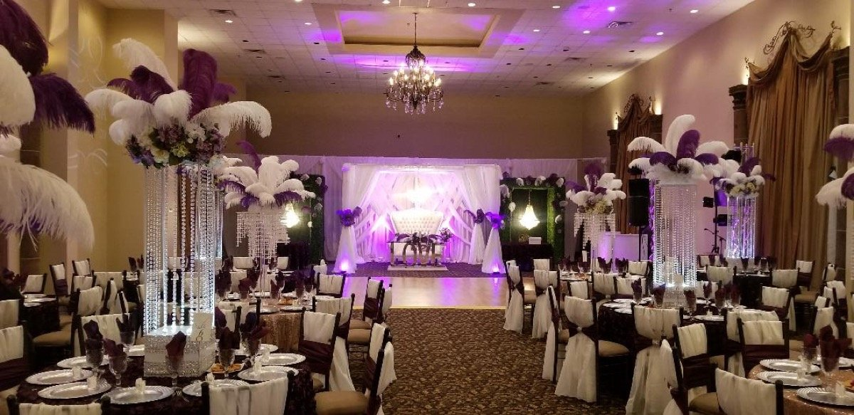 The wedded couple will sit high at this wedding set-up by Emporium by Yarlen.