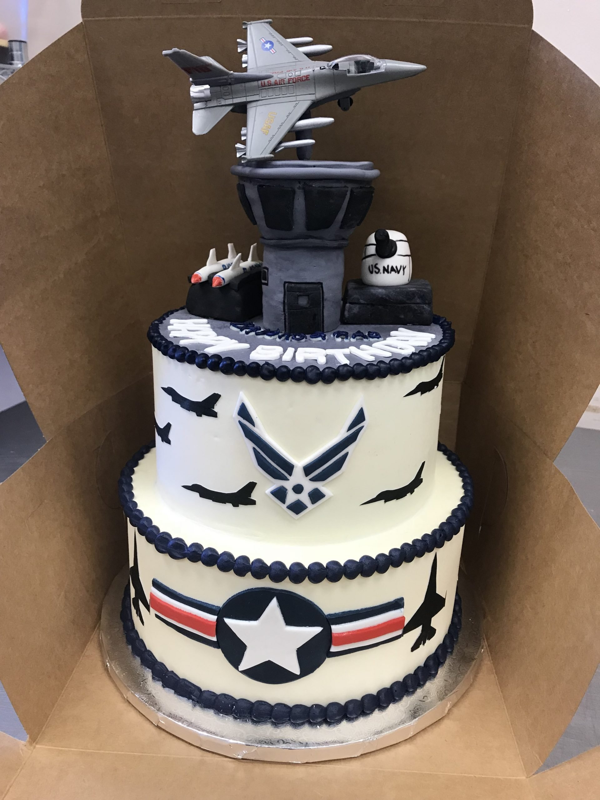 Cake Art. Air Force and Army!