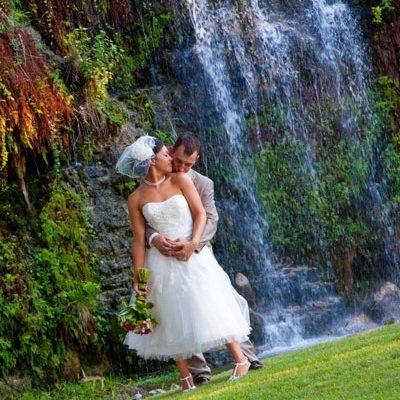 Canyon Springs Golf Club. Two waterfalls