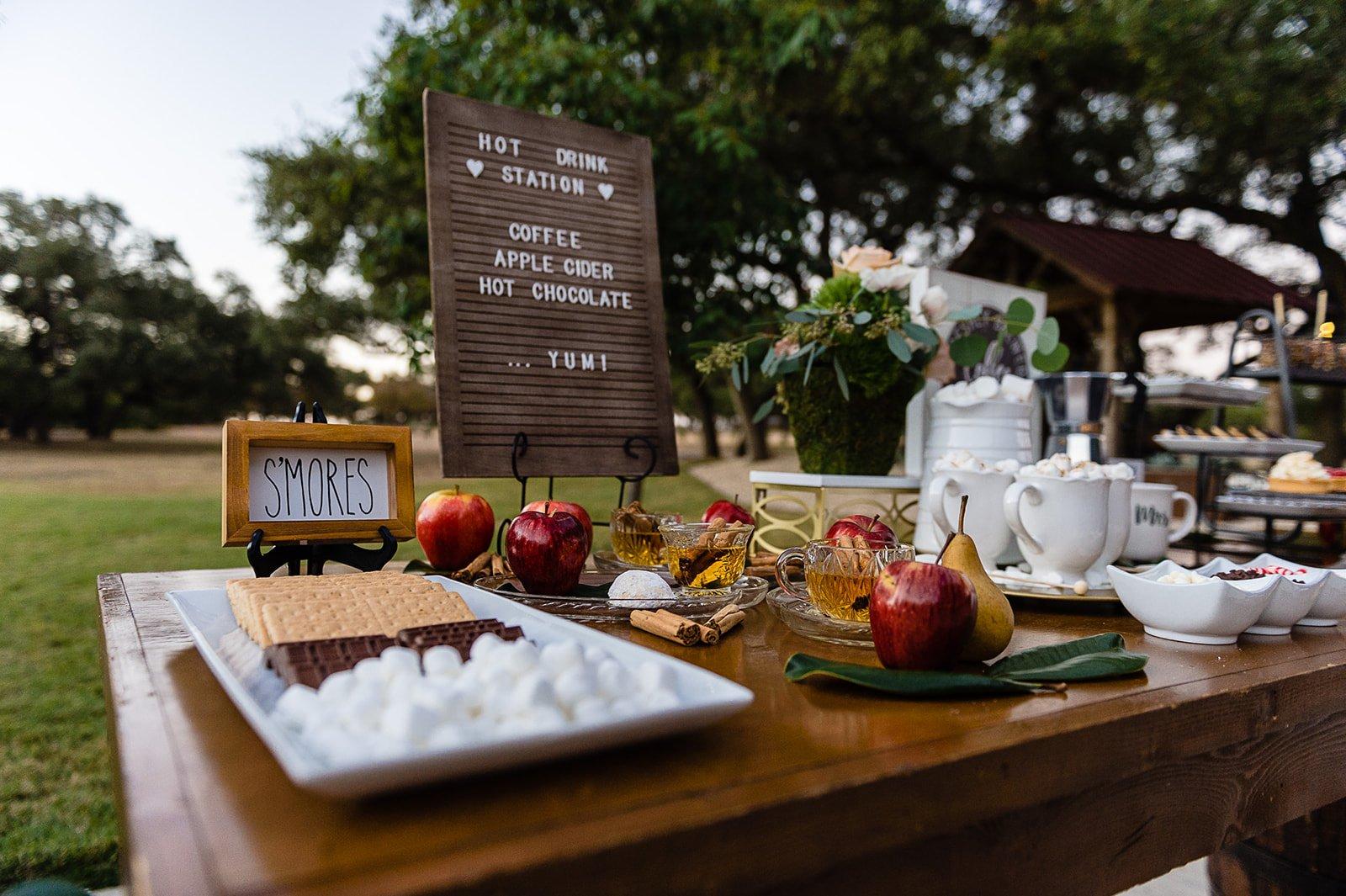 San Antonio cold weather snack table