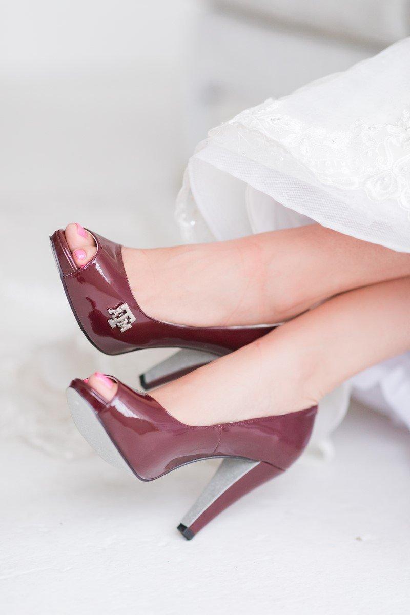 aTm university high heels wedding day shoes
