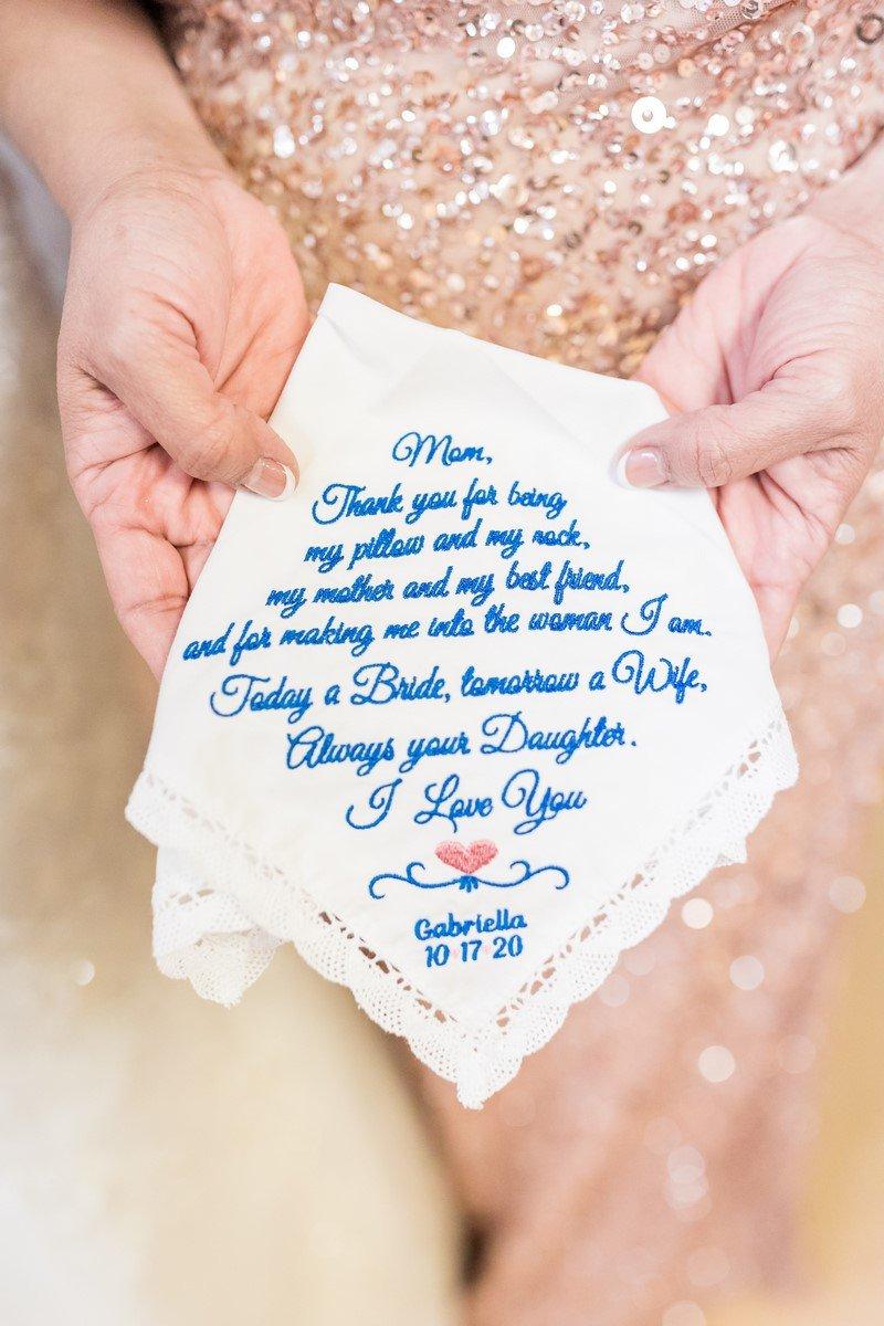 mother of the bride handkerchief San Antonio Texas