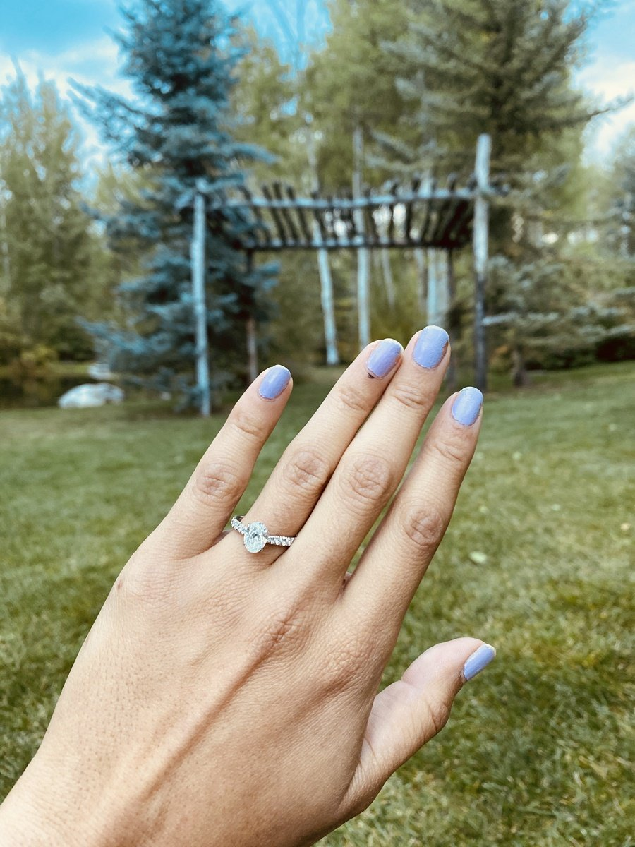 Engagement Ring with Natural Background