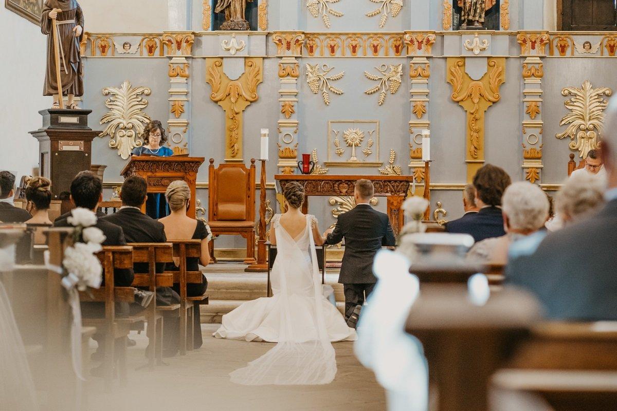 couple at the alter in San Antonio wedding