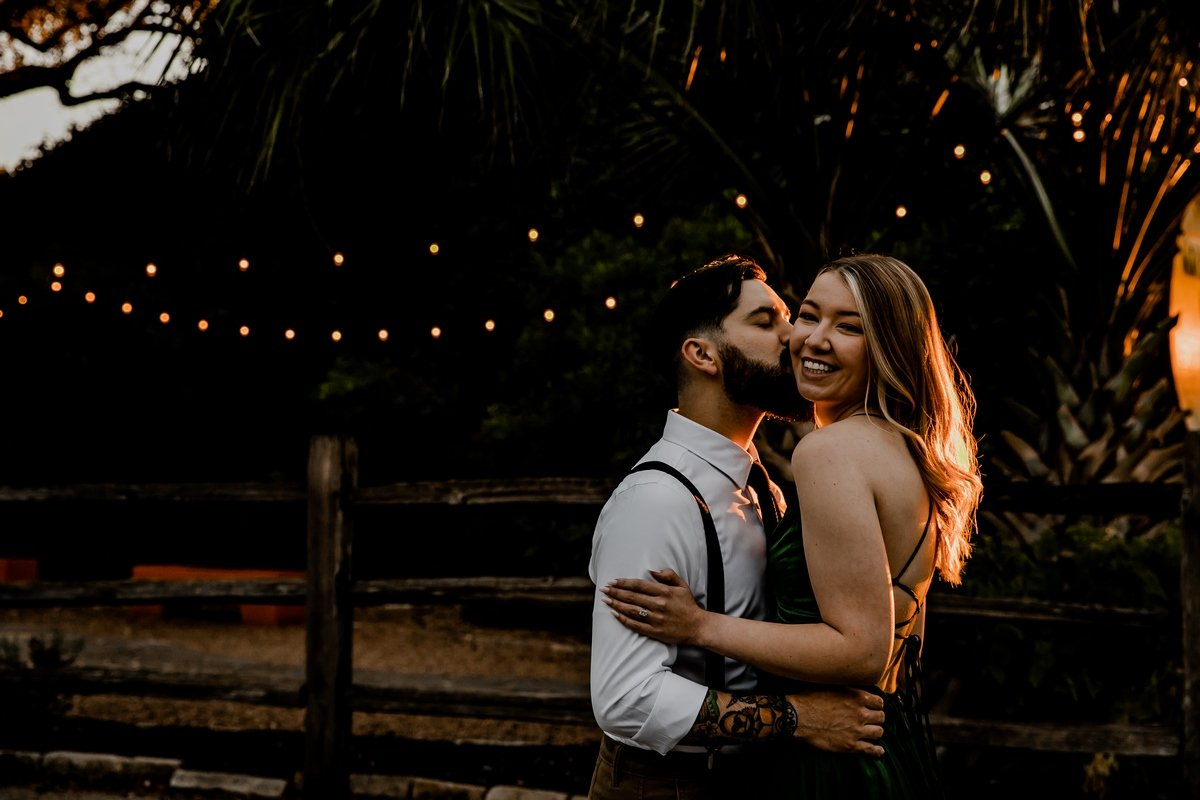 golden hour golden hair outdoor engagement shoot