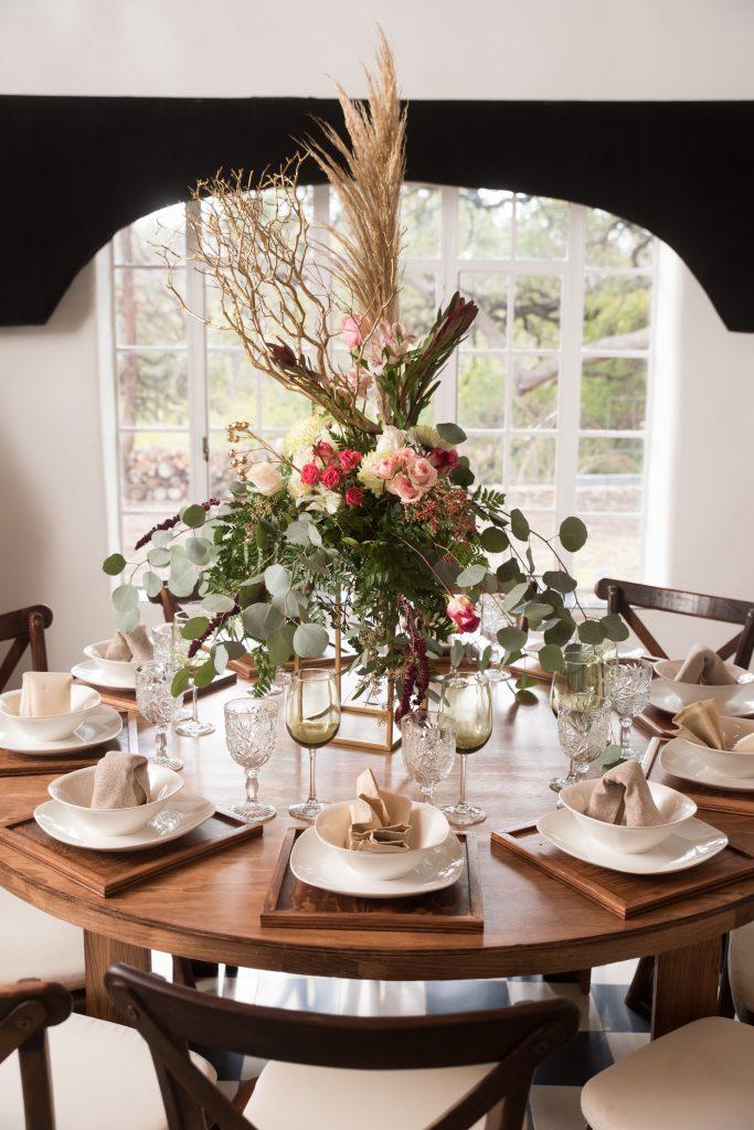 table setting at Tuscany venue in San Antonio