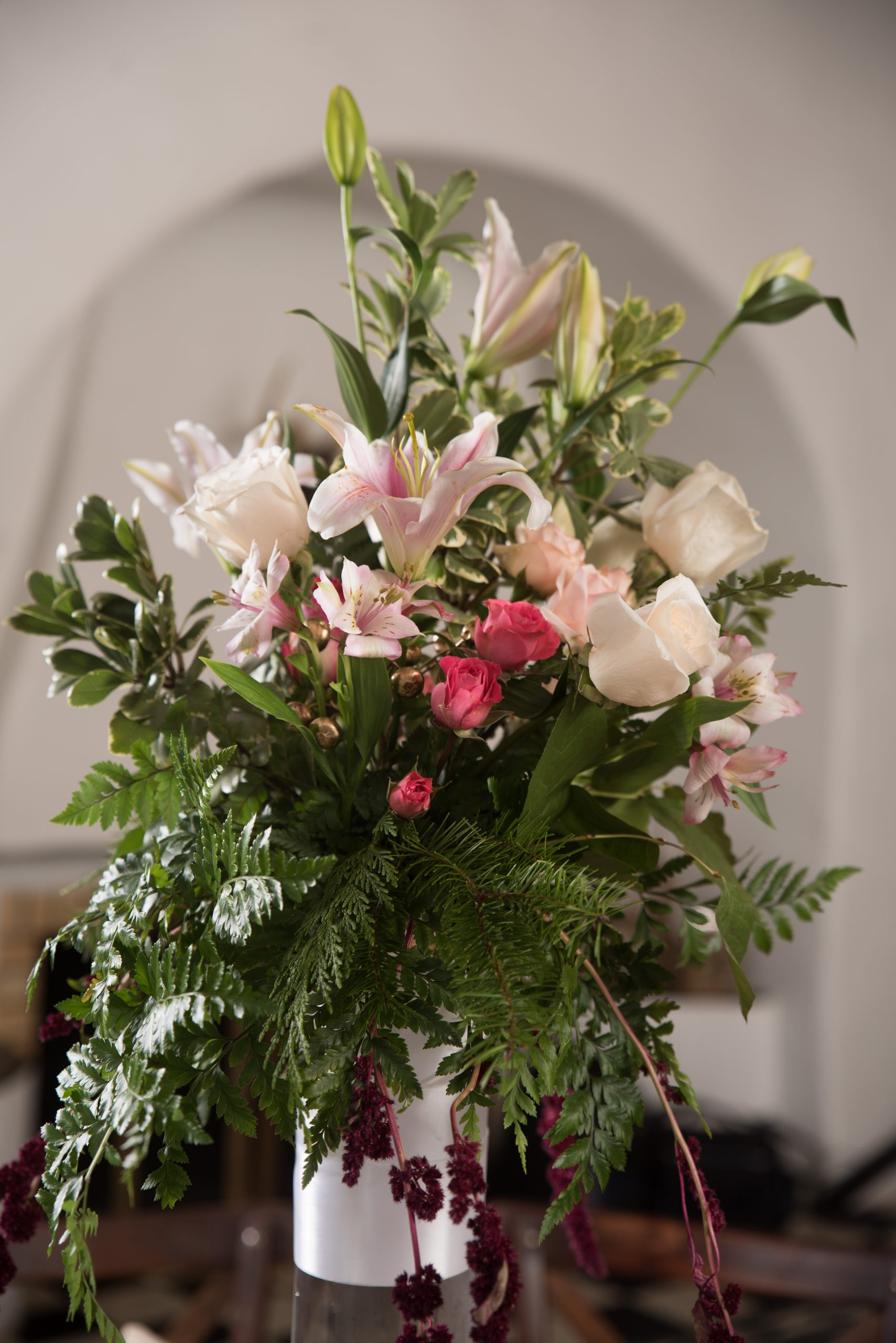 San Antonio wedding floral arrangement